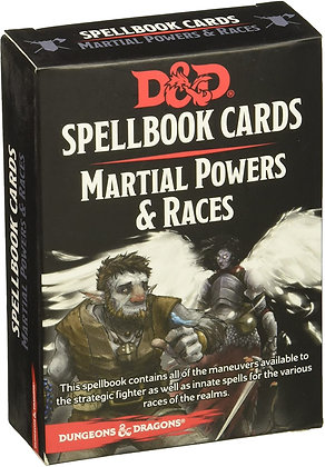 D&D DUNGEONS & DRAGONS SPELLBOOK CARDS MARTIAL POWERS & RACES