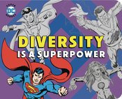 DC SUPER HEROES DIVERSITY IS SUPERPOWER BOARD BOOK