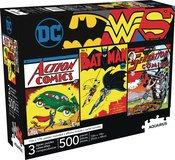 AQUARIUS DC COMICS 500PC 3 IN 1 PUZZLE