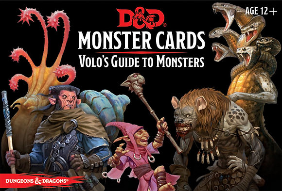 D&D DUNGEONS & DRAGONS MONSTER CARDS VOLO'S GUIDE TO MONSTERS