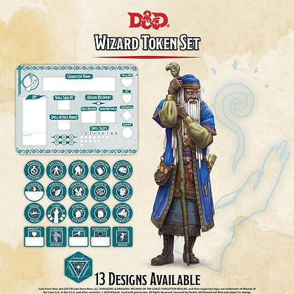 D&D DUNGEONS & DRAGONS RPG: WIZARD TOKEN SET