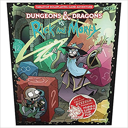 D&D DUNGEONS & DRAGONS VS RICK AND MORTY TABLETOP ROLE PLAYING GAME ADVENTURE