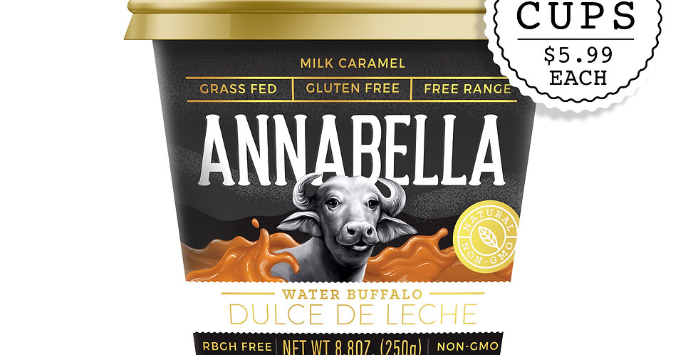 WATER BUFFALO DULCE DE LECHE / 9.5oz - 2 PACKS