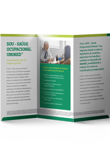 Folder SOU - Saúde Ocupacional Unimed - Interno