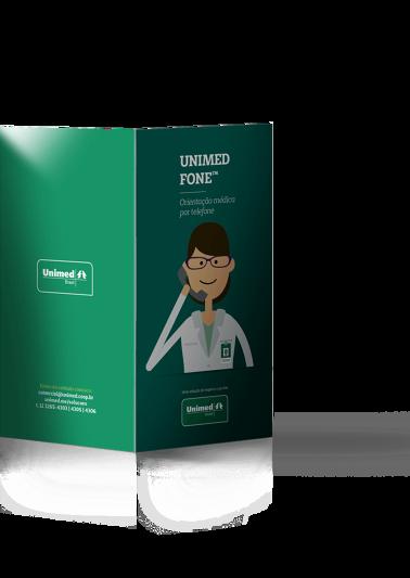 Folder Unimed Fone - Frente