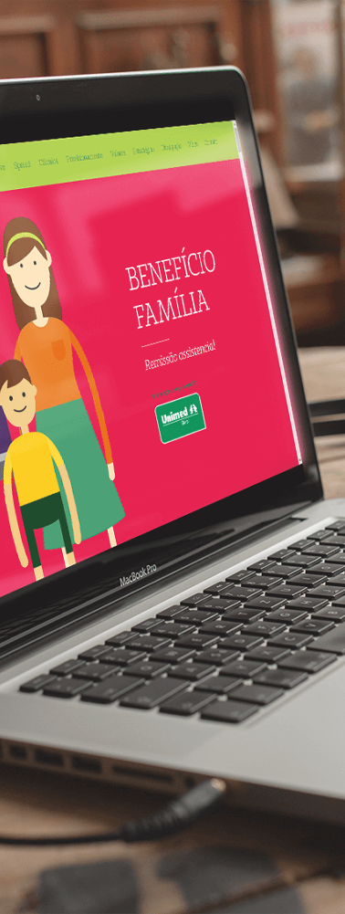 Site Desktop Benefício Família Unimed