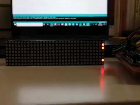 Scrolling LED Matrix - Progress