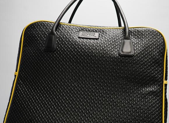 weekend bag black & gold