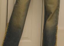 Tinted blown Denim Jeans