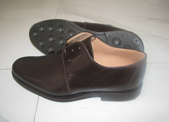 Duccio Budapest leather shoes Brown