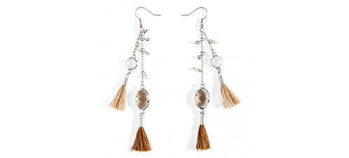 Boucle d'oreille PAMPILLE White