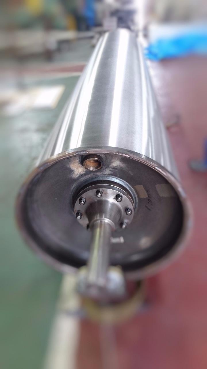 面長約3,000mm乾燥シリンダー製作