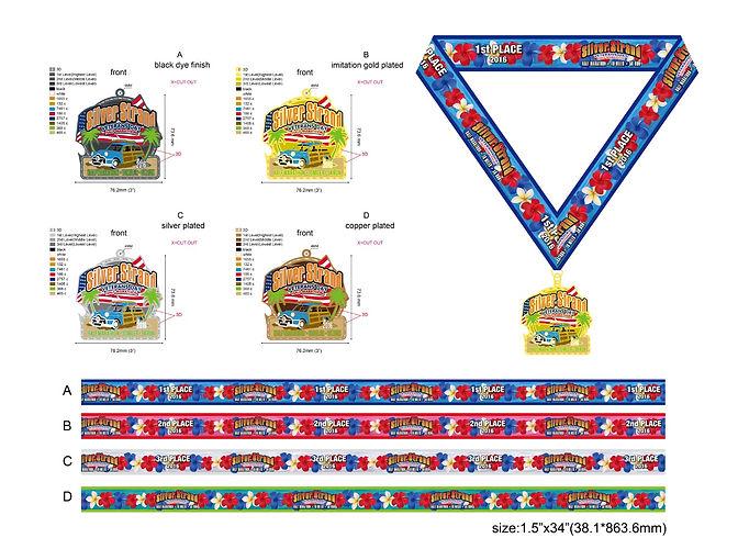 Silver Strand Half Marathon medals(16092