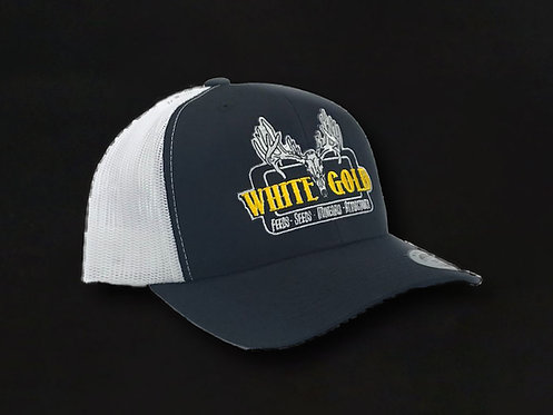 White Gold Black & White Trucker Hat