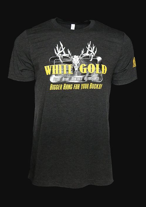 White Gold Black Triblend T-Shirt