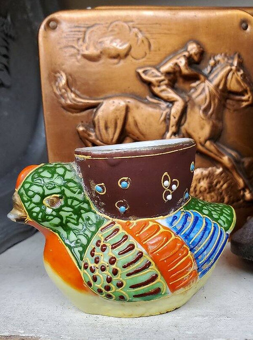 Vintage Moriage Chick Porcelain Egg Cup