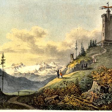 Den Kolowratturm lies im Jahre 1836 Minister  Graf Kolowrat im gotischen Stil erbauen.