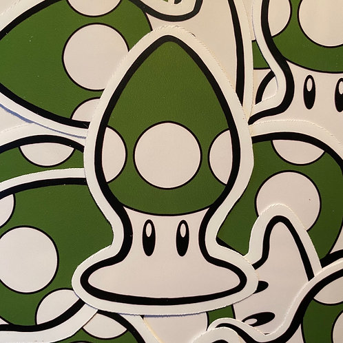 Green Mushroom Anal Plug Sticker