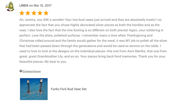 Five Star Etsy Review