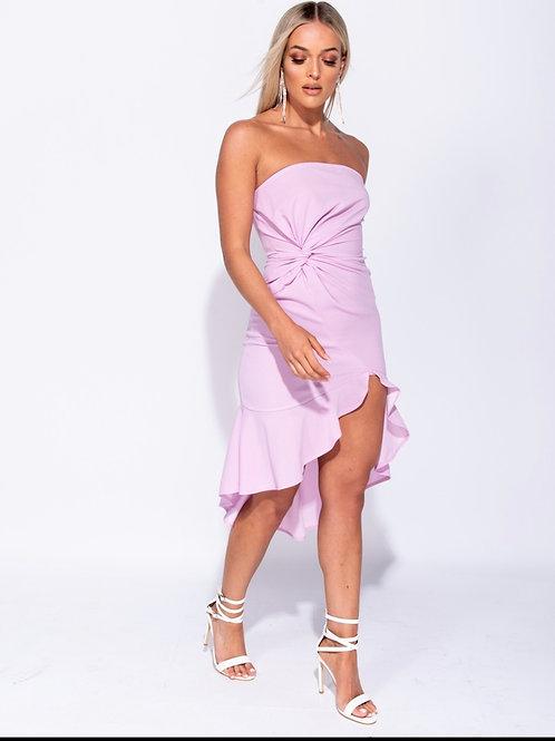 Front Twist Bandeau Dress