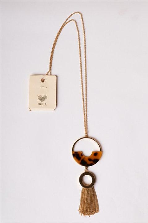Acetate Semi Circle Necklace