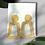 Thumbnail: Gold Textured Trapezoid Drop Earrings