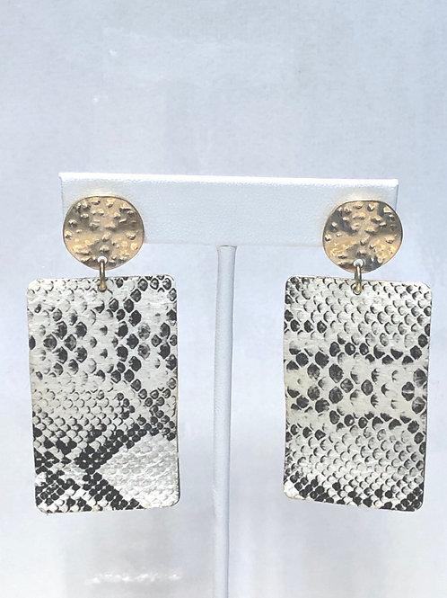 Snake Skin Square Earrings