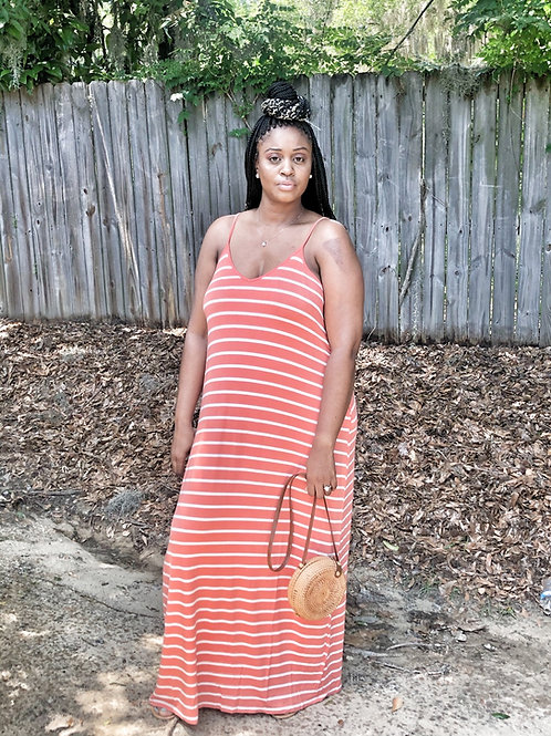 Basic Stripe Maxi Dress