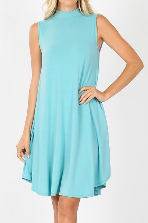 Basic Mock Neck Dress