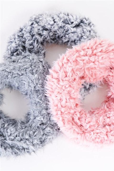 Fluffy Faux Fur Infinity Winter Scarf
