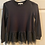 Thumbnail: Girls Black Knit Long Sleeve Lace Hem Sweater