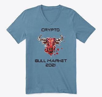 Crypto Bull Market 2021_Premium V-Neck T
