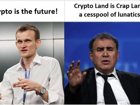 News Flash: Nouriel Roubini Hates Crypto! Let's Look at the Facts!