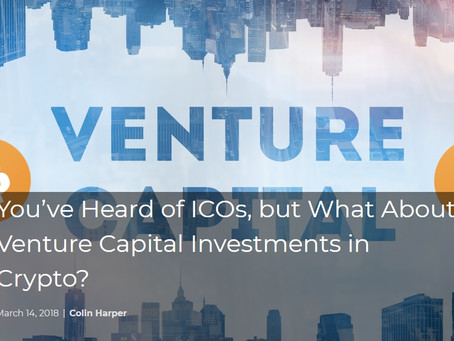 You've Heard of ICOs, but What About Venture Capital Investments in Crypto?