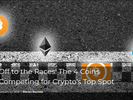 Off to the Races: The 4 Coins Competing for Crypto's Top Spot