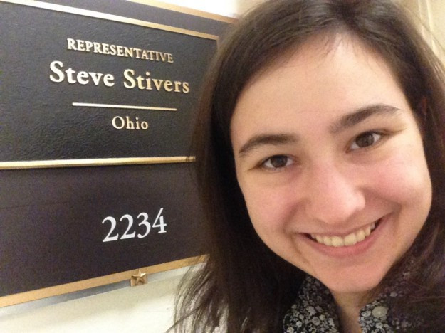 Me after lobbying U.S. Representative Steve Stivers (OH-15) on ending gun violence funding and murdered and missing indigenous women in January 2020 in Washington, D.C. Source: Lucy Enge