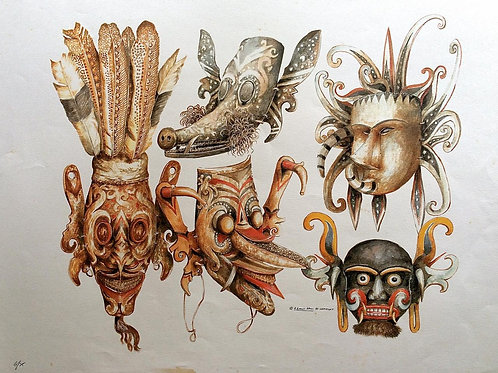 Tribal Artifacts of Borneo : 2.Borneo Tribal Masks