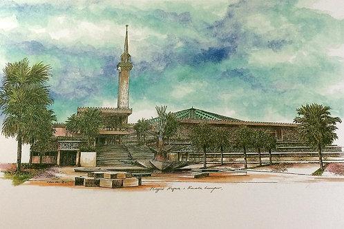 Mosques Of Malaysia : 5.Kuala Lumpur National Mosque