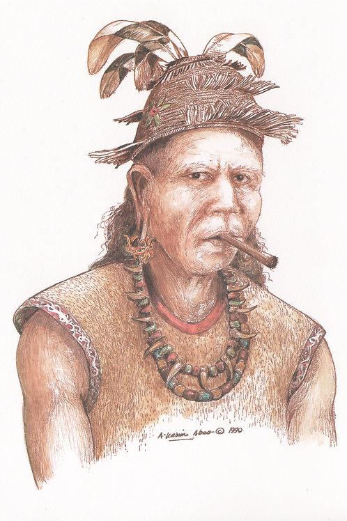 Postcards : Sarawak Tribal Costumes