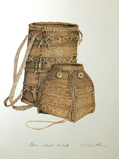 Tribal Artifacts of Borneo (Series of 6) : 2.Borneo Tribal Ritual Basket