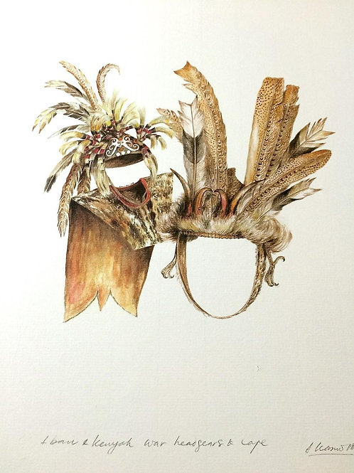 Tribal Artifacts of Borneo (Series of 6) : 5.Borneo Tribal Head Gears