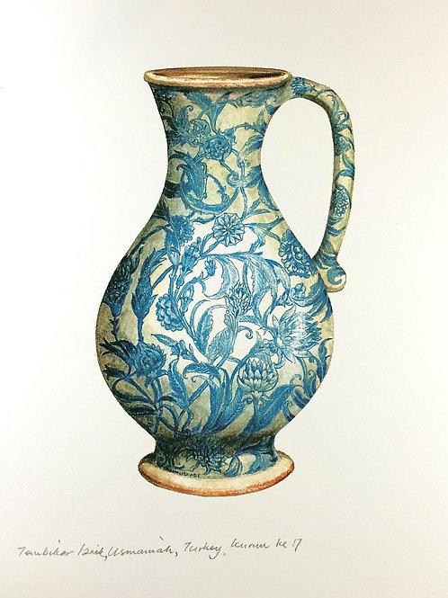 Islamic Vases: 6.Iznik Blue &White Ceramic, Ottoman