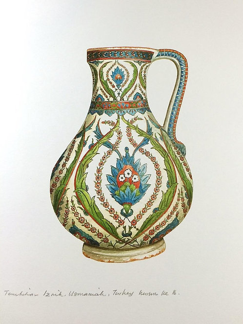 Islamic Vases: 8.Iznik Ceramic Vase, Ottoman