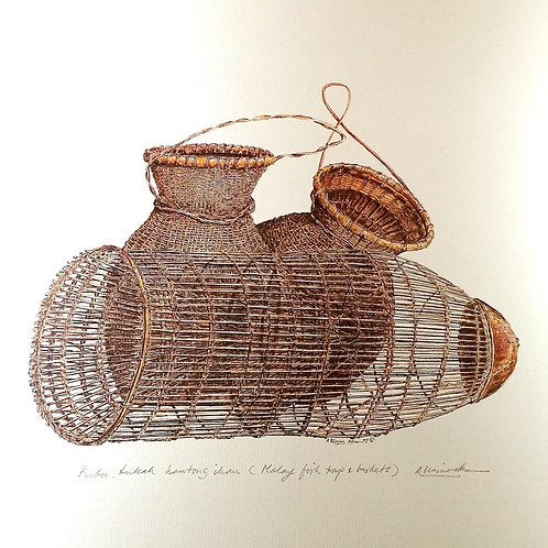 Traditional Malay Artifacts ; 3.Malay Fish Trap