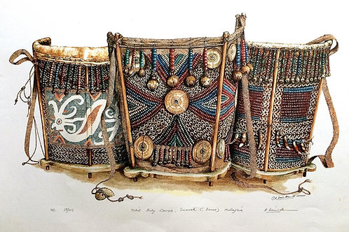 Tribal Artifacts of Borneo : 5.Borneo Tribal Baby Carriers