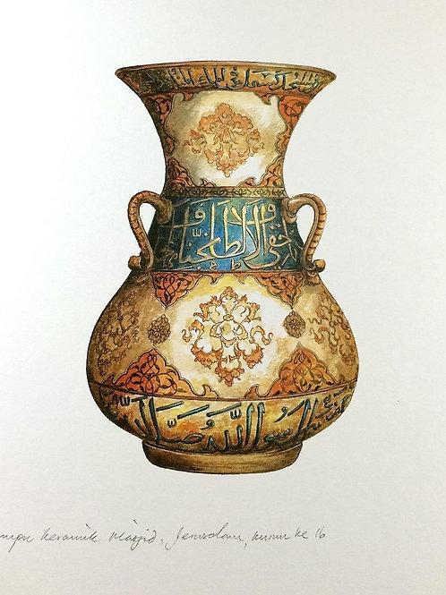 Islamic Vases: 5.Mosque Ceramic Lamp, Jerusalam