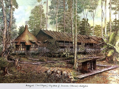 Traditional Sarawak House: Bidayuh Long House
