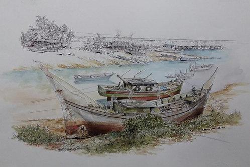 Perahu Tua Nelayan