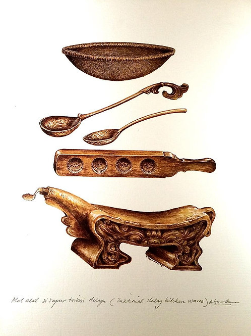 Traditional Malay Artifacts ; 1.Malay Kitchen Ware