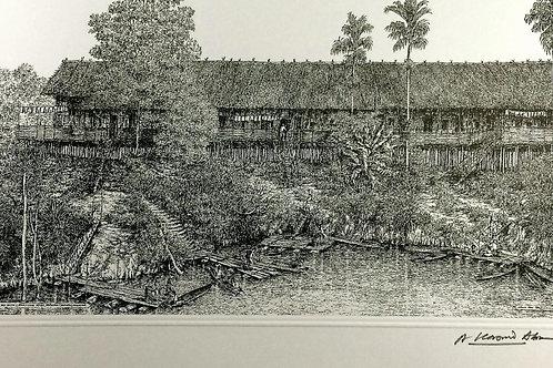 B&W Malaysian Traditional Home & Old Tin Mines